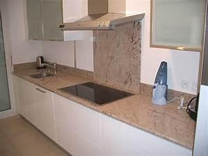 Plan De Travail Cuisine Granit : cuisine avec plan de travail en marbre cuisine naturelle ~ Dallasstarsshop.com Idées de Décoration