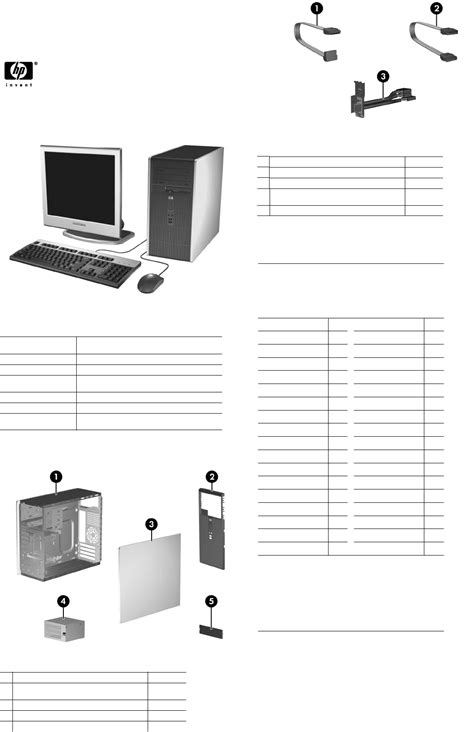 Illustrated Parts & Service Map HP Compaq dc5700