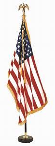 Signature Mahogany Indoor US Flag Set