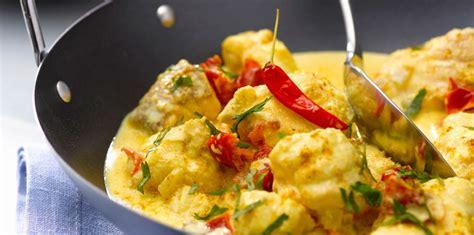 cuisine lotte recette lotte au curry recette sur cuisine actuelle