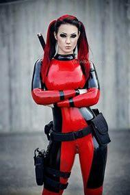 Latex Female Deadpool Cosplay