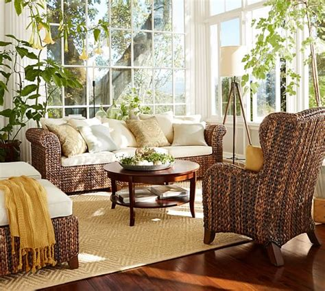pottery barn seagrass wingback chair honey seagrass wingback armchair pottery barn