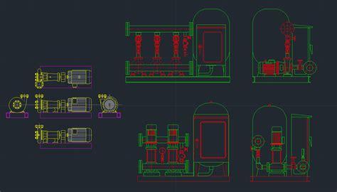 booster pump  cad blocks  cad drawing