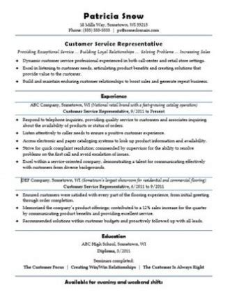 Career Services Psu Resume by How To Write A Customer Service Resume