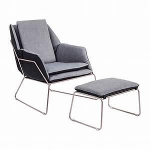 Repose Pied Design : fauteuil et repose pieds contemporain gris space kare design ~ Teatrodelosmanantiales.com Idées de Décoration