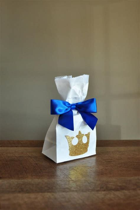 royal prince baby shower favor bags handcrafted