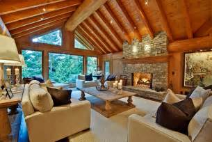 beautiful log home interiors bring home some inviting warmth with the winter cabin style