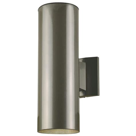 westinghouse 2 light polished graphite on steel cylinder