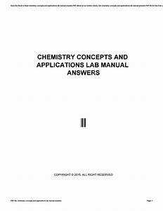 Chemistry Concepts And Applications Lab Manual Answers By