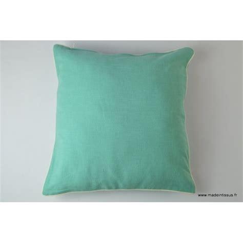 housse pour coussin 40x40 polyester coloris turquoise