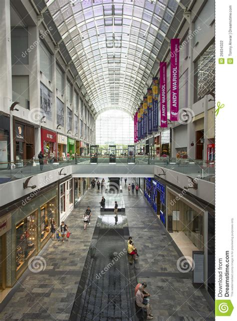 marina bay sands shopping mall editorial photography