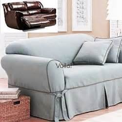 reclining sofa slipcover blue texture sure fit dual recliner reclining sofa slipcover in