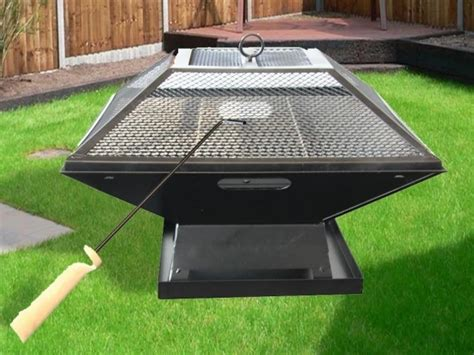 Fire Pit Grill Combo Coffee Tables Small Glossy Table Build Chrome Base Bed Bronze Glass Top Round On Wheels Vintage Square