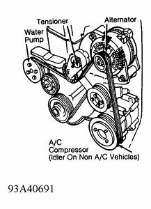 Wn 9671  1993 Mercedes Benz Belt Diagram Free Diagram