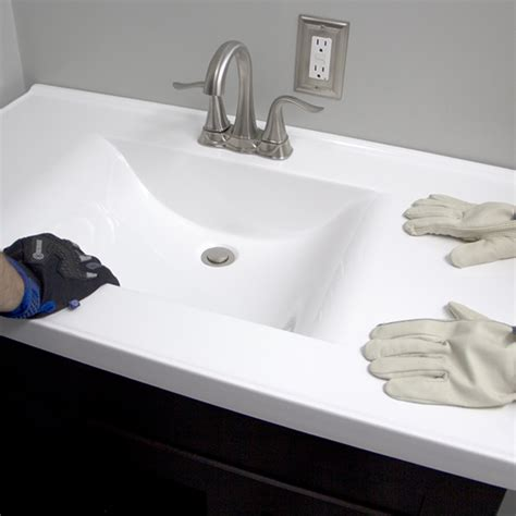 best sink material for water install a bathroom vanity and sink
