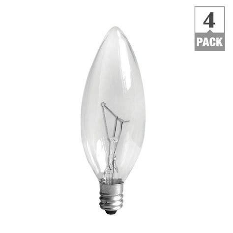ge 60 watt incandescent b10 candelabra base