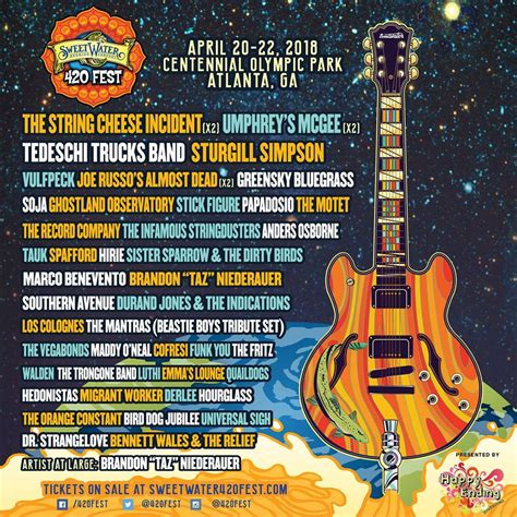 SweetWater 420 Fest Adds The String Cheese Incident ...