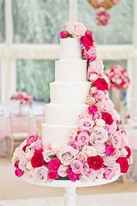 beautiful white cake with pink flowers {Photography ...