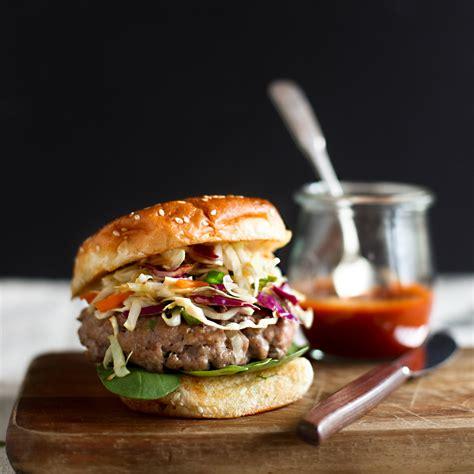 asian style pork burgers recipe melissa rubel jacobson