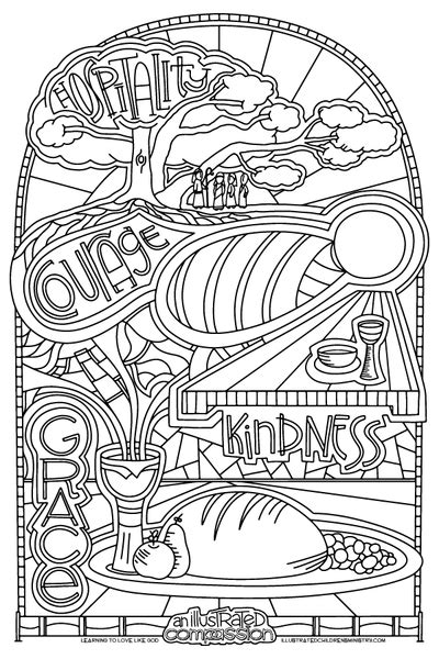 illustrated compassion coloring pages illustrated childrens ministry