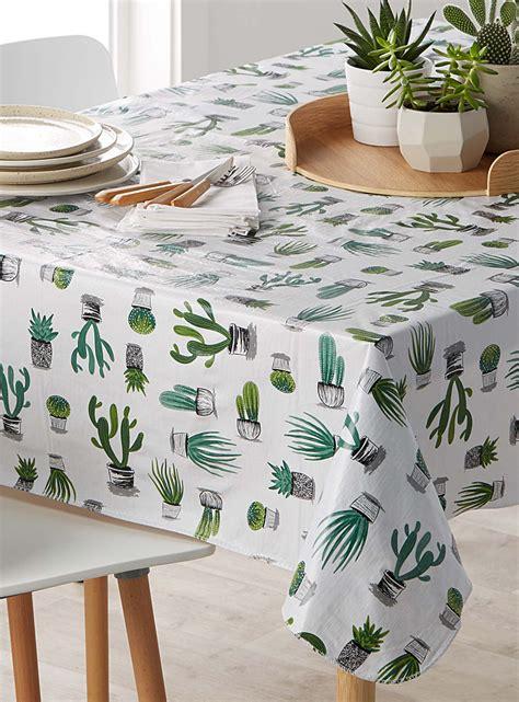 nappe cuisine la nappe vinyle cactus et succulents simons maison