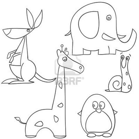 draw animal doodles zoo birthday drawings