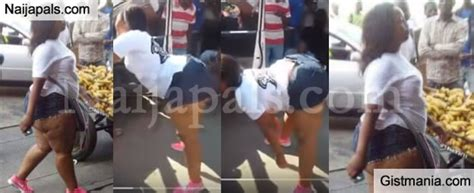 Heavily Hot   Endowed Woman Publicly Twerks Her Big Booty On The Street Of Zimbabwe  Video