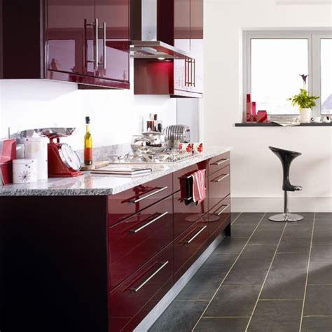 burgundy kitchen kitchen colour schemes  ideas