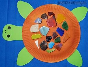 Basteln Mit Kindern Sommer Und Ganzjährig : dekorative schildkr te basteln mit kindern aus papiertellern ~ Frokenaadalensverden.com Haus und Dekorationen