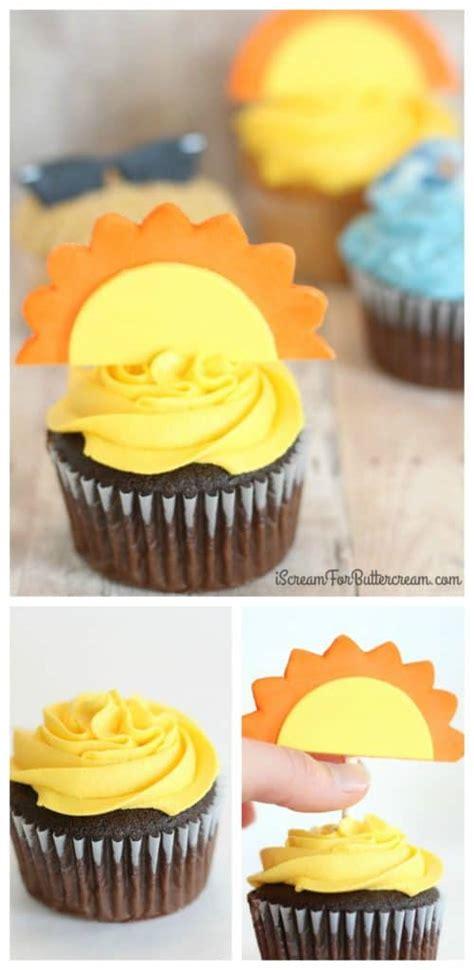 Diy Summer Cupcake Toppers  I Scream For Buttercream
