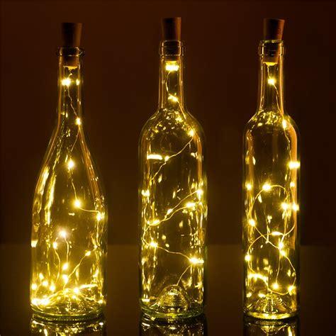 set of 3 wine bottle cork lights 32inch 80cm 15 led