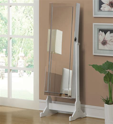 quilted floor mirror quilted white swivel jewelry armoire cheval floor dressing mirror wardrobe ebay
