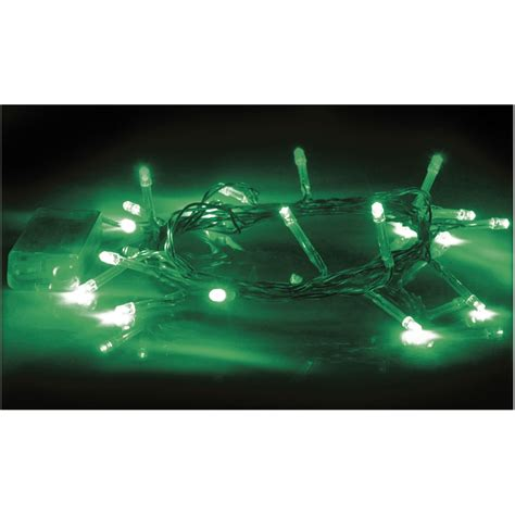 green decrative led string lights battery powered