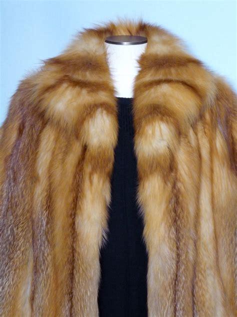 vintage  red fox fur coat   canada