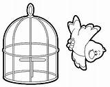 Cage Coloring Preschool Comment Kindergarten Crafts sketch template