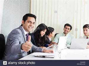 Indian Business People Working in Office Stock Photo ...