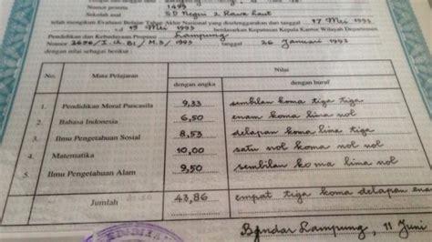 sertifikat asli nem sd hilang bagaimana  cari