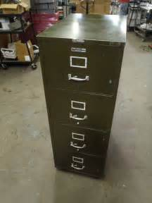 vintage victor fire master 4 drawer file cabinet certified