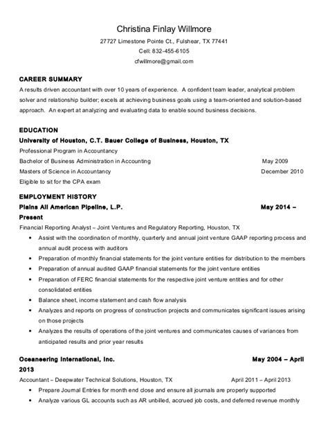 Cpa Candidate Resume by How To Put Cpa On Resume Annecarolynbird