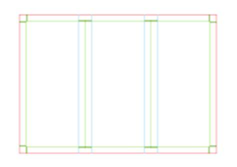 Clipart Trifold Brochure Template A4 Page Size Landscape A4 Size Border Vector 951 Vectors Page 1