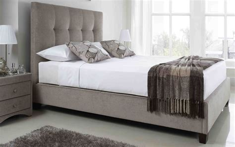 Fabric King Bed Frame 5ft king size kaydian walkworth mink ottoman fabric bed