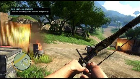 Far Cry Rare Golden Tiger Bow Hunting Side Quest