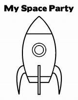 Coloring Space Party Rocket Ship Outline Clipart Pages Twistynoodle Rockets Shuttle Unit Birthday Cliparts Miles Clip Moon Toy Lightyear Buzz sketch template