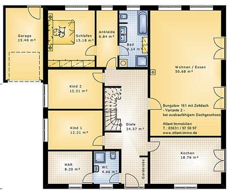 Bungalow Mit Dachgeschoss by Bungalow 161 Mit Zeltdach Einfamilienhaus Neubau Massivbau