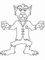 Werewolf Coloring Goosebumps Halloween Zombie Wolf Template Sketch sketch template