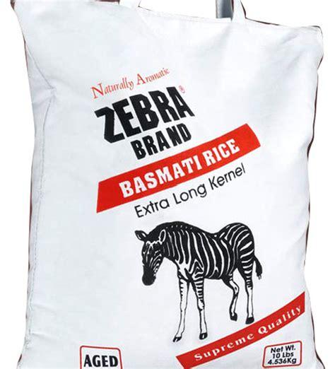 Zebra Basmati Rice 10 Lbs By Zebra Basmati Rice For $2498