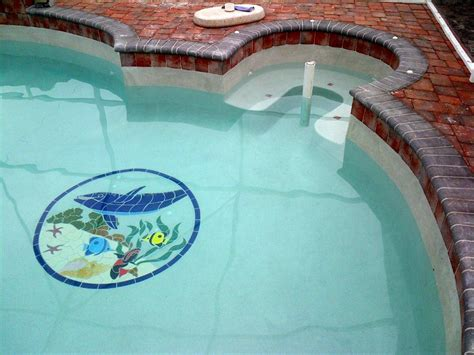 dolphin friends ceramic pool mosaic blue water pool