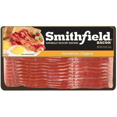 Smithfield Hometown Original Bacon, Naturally Hickory ...
