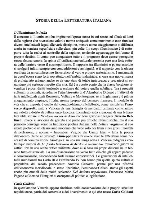 illuminismo nella letteratura italiana riassunto esame letteratura prof ferroni libro