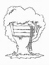 Coloring Treehouse Albero Colorare Sull sketch template